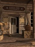 Puerta a la oficina del sheriff Imágenes de archivo libres de regalías