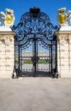Puerta labrada clásica Foto de archivo libre de regalías