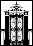 Puerta labrada del hierro (vector) Foto de archivo