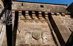 Puerta Le Mont Saint Michel en Normandía, Francia Imagen de archivo