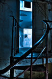 Puerta ligera azul Fotografía de archivo libre de regalías