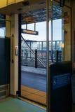Puerta ligera del tren del carril Fotos de archivo libres de regalías