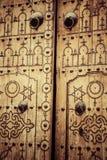 Puerta local típica del hogar tradicional; Túnez; Túnez Imagen de archivo libre de regalías