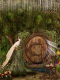 Puerta mágica stock de ilustración