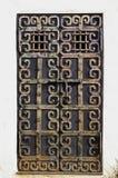 Puerta mañosa del metal oxidado de Grunge Imagenes de archivo