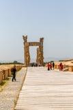 Puerta magnífica de Persepolis Imagenes de archivo