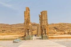 Puerta magnífica de Persepolis Imagen de archivo libre de regalías