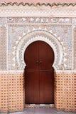 Puerta marroquí. imagenes de archivo