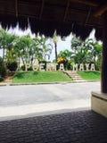Puerta Maya Mexiko Stockfotografie