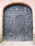Puerta medieval imagen de archivo