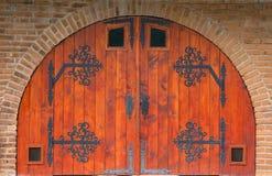 Puerta medieval Imagen de archivo libre de regalías