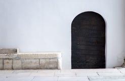 Puerta medieval del hierro labrado Fotografía de archivo