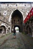 Puerta medieval gigante Aquisgrán Fotografía de archivo libre de regalías
