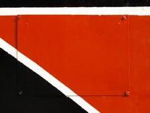 Puerta metálica colorida Fotografía de archivo libre de regalías