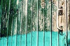Puerta mitad-pintada vieja Imagen de archivo libre de regalías