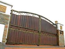 Puerta moderna de la casa aislada Imagenes de archivo