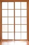 Puerta moderna del vidrio de desplazamiento en el estilo de Japón Fotos de archivo