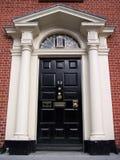 Puerta negra de Dublín Foto de archivo libre de regalías