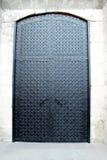 Puerta negra del hierro Foto de archivo libre de regalías