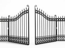 Puerta negra del hierro stock de ilustración