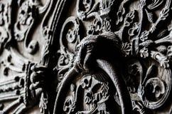 Puerta Notre Dame Imágenes de archivo libres de regalías