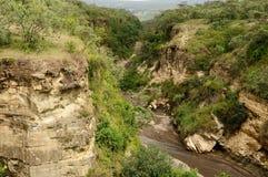 Puerta NP de los infiernos en Kenia, África Fotografía de archivo libre de regalías
