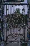 Puerta obstruida con muchas cerraduras fotos de archivo libres de regalías