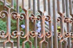 Puerta oxidada foto de archivo