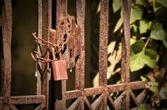 Puerta oxidada Fotos de archivo