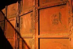 Puerta oxidada del hierro Fotografía de archivo libre de regalías