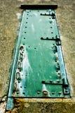 Puerta oxidada verde 2 Foto de archivo