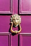 Puerta púrpura Imagen de archivo libre de regalías