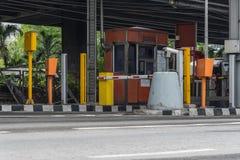 Puerta para el pago de la tarifa de la autopista en Bangkok por EXAT Fotografía de archivo libre de regalías