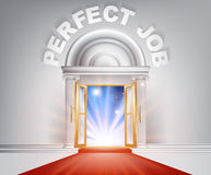 Puerta perfecta de la alfombra roja del trabajo Imagenes de archivo