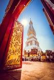 Puerta a Phra Thatphanom imagen de archivo libre de regalías