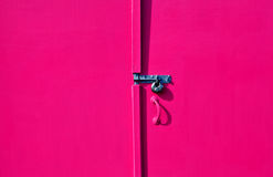 Puerta pintada de la choza Imagen de archivo