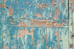 Puerta pintada en azul Royalty Free Stock Photos