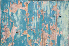 Puerta pintada en azul Stockbild