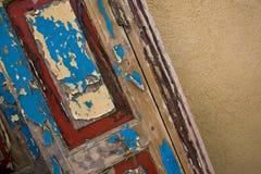 Puerta pintada vieja Imagenes de archivo