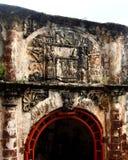 Puerta, Porta de Santiago, un fuerte de Famosa, Malaca, Malasia Fotos de archivo libres de regalías