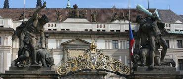 Puerta Praga del castillo Imágenes de archivo libres de regalías
