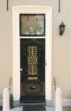 Puerta principal antigua Fotos de archivo libres de regalías