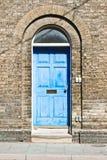 Puerta principal azul Imágenes de archivo libres de regalías
