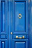 Puerta principal azul Foto de archivo libre de regalías
