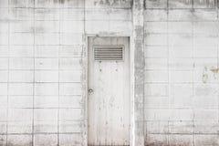 Puerta principal blanca Imagen de archivo