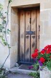 Puerta principal de la cabaña Imágenes de archivo libres de regalías