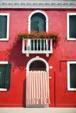 Puerta principal de la casa/de Italia europeas caseras/viejas Imagenes de archivo