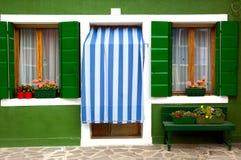 Puerta principal de la casa/de Italia europeas caseras/viejas Imágenes de archivo libres de regalías
