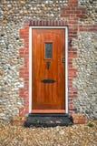 Puerta principal de madera Fotografía de archivo libre de regalías