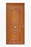 Puerta principal de madera Imágenes de archivo libres de regalías